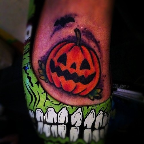cute jack o lan... Evil Jack O Lantern Tattoo