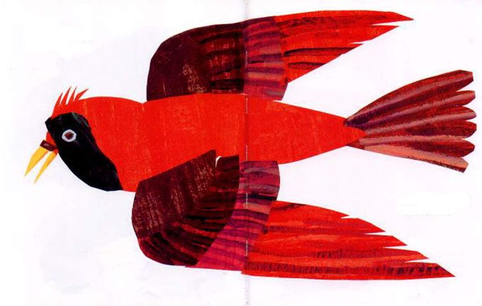 red bird | Eric Carle | Pinterest