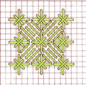 satin_stitch_flower_with_double_cross