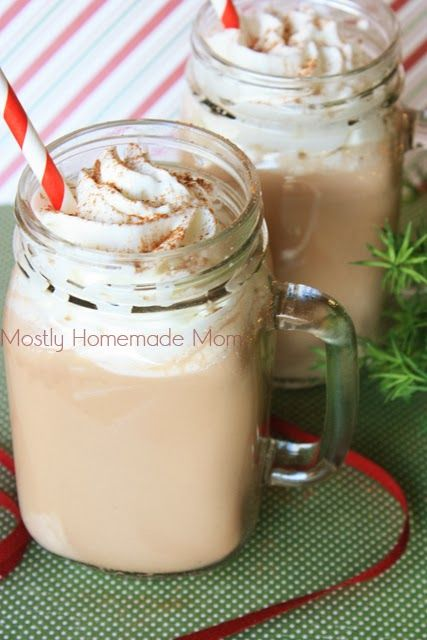 Chocolate Eggnog - chocolate milk + eggnog + oodles of whipped cream ...