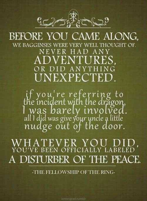 Frodo and Gandalf quote. ^^  All things Middle Earth  Pinterest
