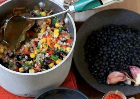 Buchwheat black bean soup | Clean, lean, and green | Pinterest