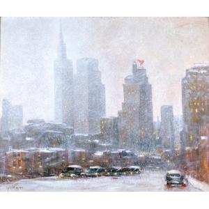 Dallas in Winter, Guy Carleton Wiggins, c. 1942, Dallas Museum of Art