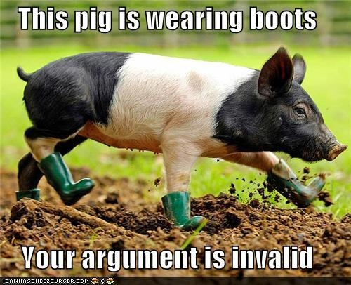 This pig is wearing boots.