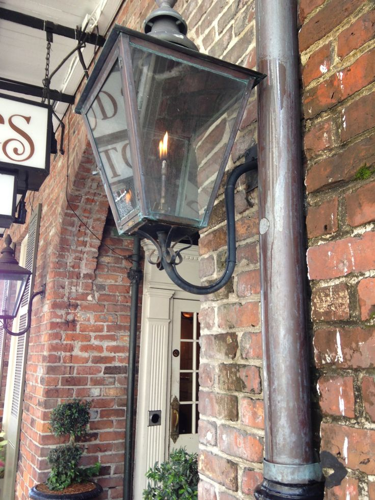 the gas lanterns in new orleans are so charming wish we had them in. Black Bedroom Furniture Sets. Home Design Ideas