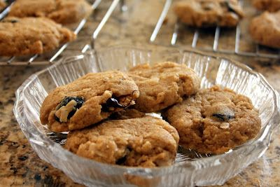 ... : Chocolate cherry oatmeal almond butter cookies. Healthy whole grain