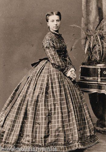 4 Prints Civil War Photos Women in Plaid Dresses | eBay