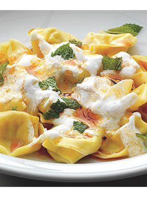 Tortellini with Yogurt, Mint, and Smoked Paprika Oil