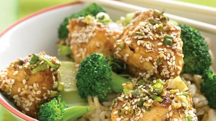 Lighter Sesame Chicken Recipe. YUM!! | Tastes Like Chicken | Pinterest