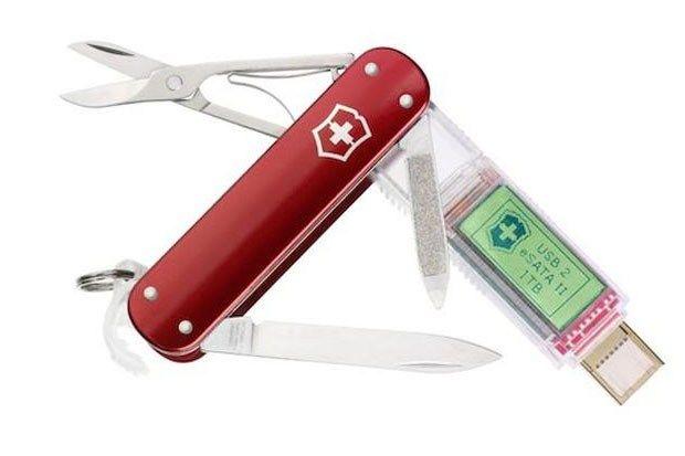 Victorinox's 2000 english pound Swiss Army Knife W/ 1TB Thumb Drive-wired.co.uk-badassed.......