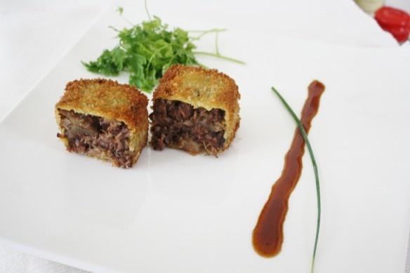 Tempura Oxtail with Spicy Apple Glaze | BENNY'S FOOD PORN | Pinterest
