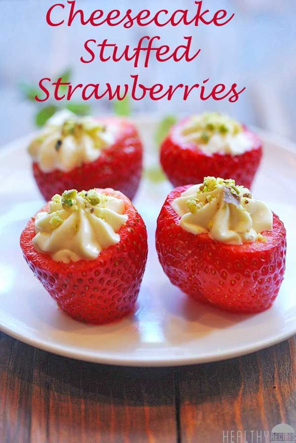 Cheesecake Stuffed Strawberries | Nummy food | Pinterest