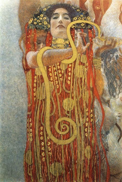 artemisdreaming: Hygieia - Medicine Detail Gustav Klimt