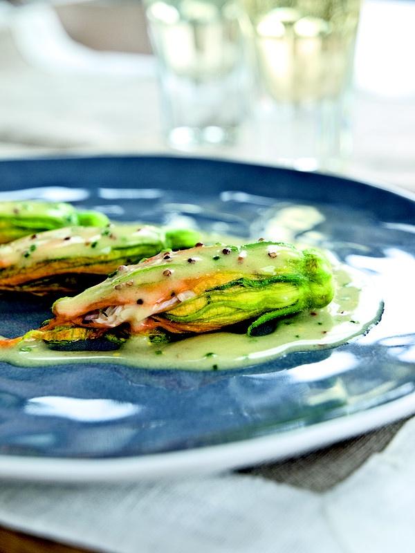 Crab-Stuffed Zucchini Flowers Recipe — Dishmaps