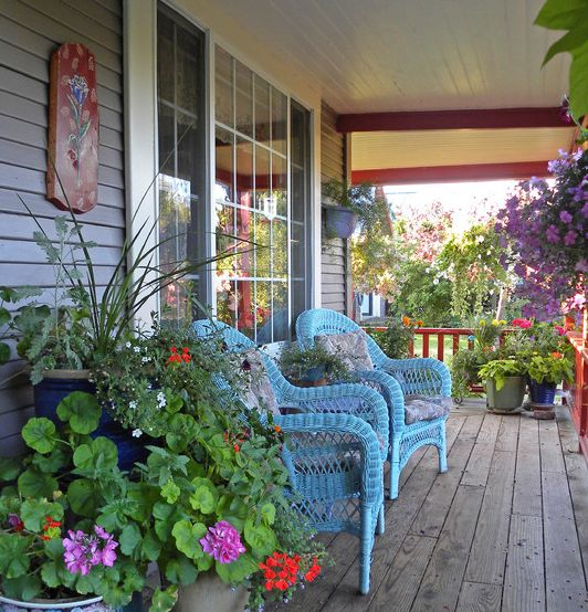 Colorful front porch cute home stuff pinterest for Cute front porches