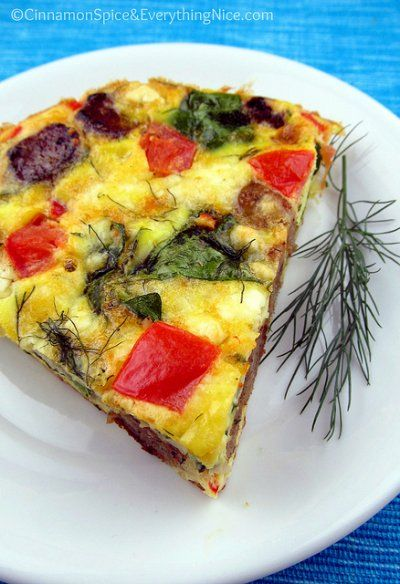 Greek Frittata by Cinnamon Spice and Everything Nice