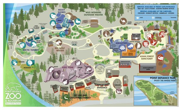 Point defiance zoo aquarium zoo map zoo inspiration Directions to aquarium