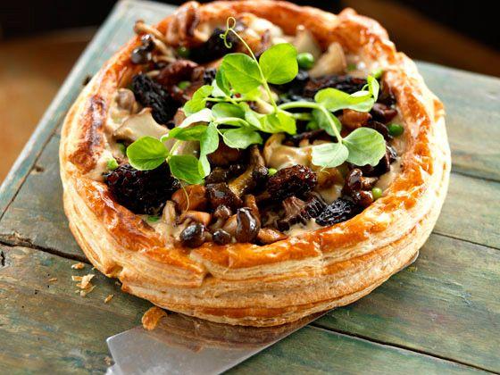 Wild Mushroom Tart | Bon Appétit | Pinterest