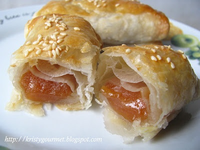"Chinese New Year Cake ""Nian Giao"" Baked in Puff Pastry"