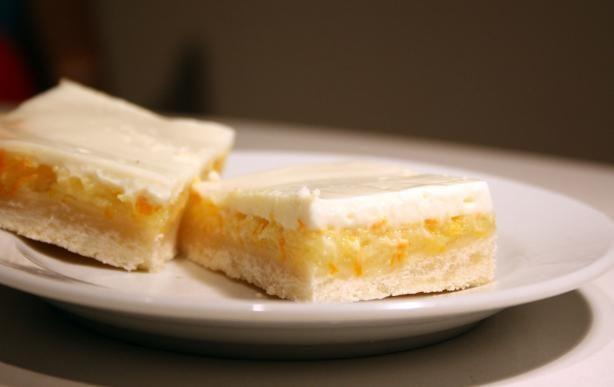 Sour Cream Lemon Shortbread Bars