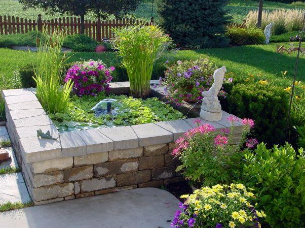 Very Small Backyard Pond : Water Garden  Small Garden Ponds  Pinterest
