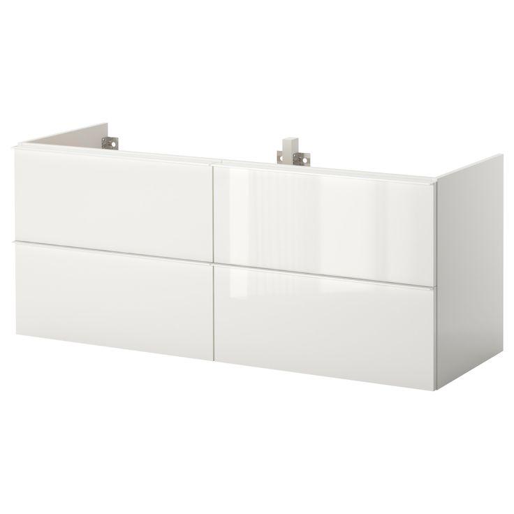 Garage Sink Cabinet : Garage storage - GODMORGON Sink cabinet with 4 drawers - high gloss ...