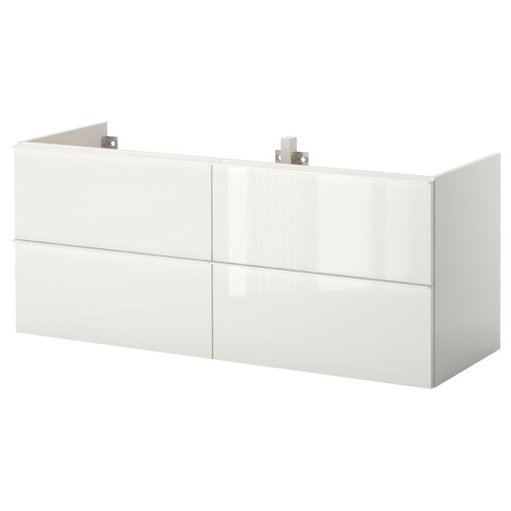 Garage storage - GODMORGON Sink cabinet with 4 drawers - high gloss ...