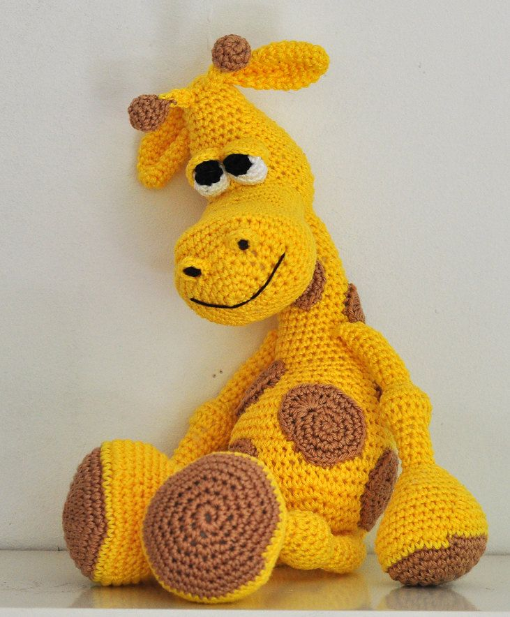crochet pattern, amigurumi, giraffe - pdf, English or German