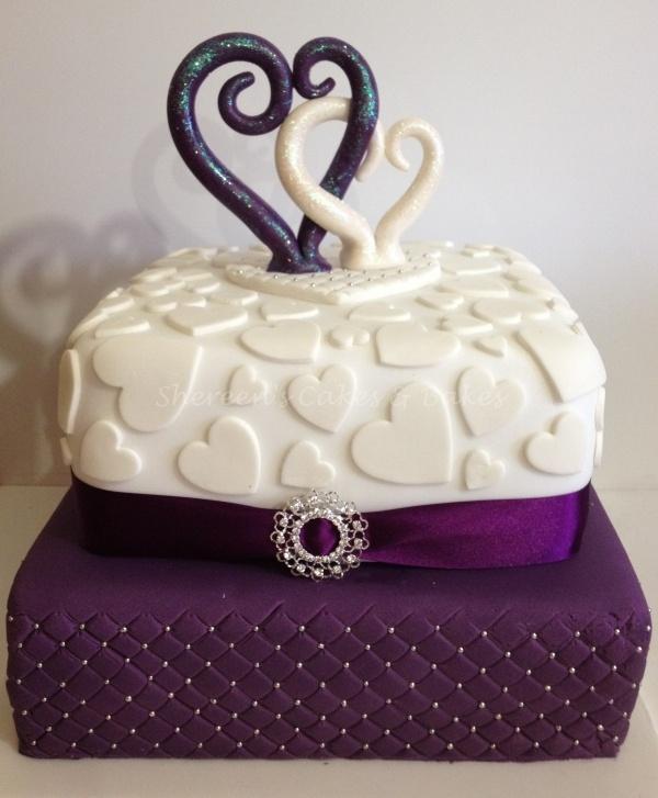 Cadbury Purple Amp White Wedding Cake