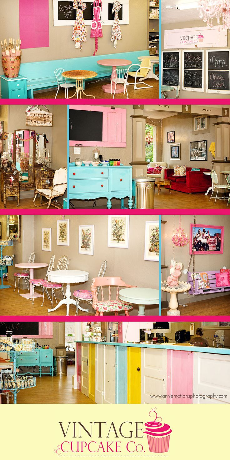 Cutest cupcake store bakery interior design pinterest for Bakery shop decoration ideas