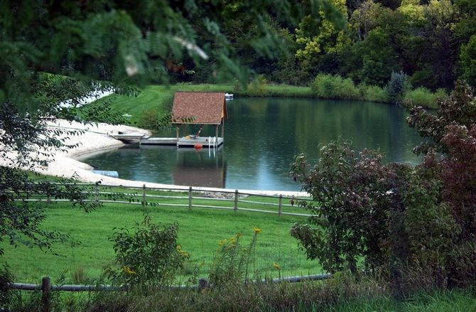 Orr pond dock farm ideas outdoor spaces for Pond pier plans