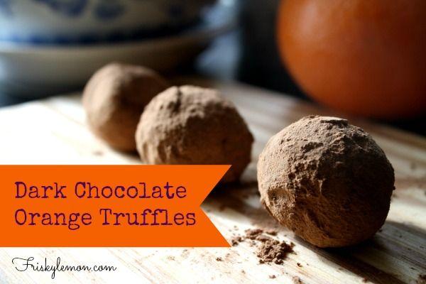 Dark Chocolate Orange Truffles   http://friskylemon.com/2014/02/13 ...