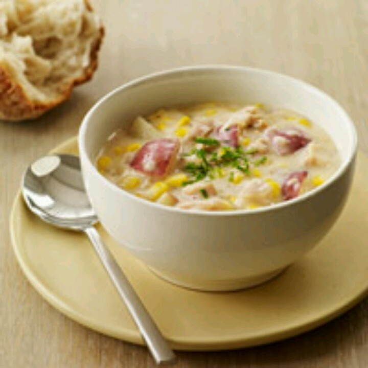 New England clam and corn chowder | Something fishy is going on | Pin ...