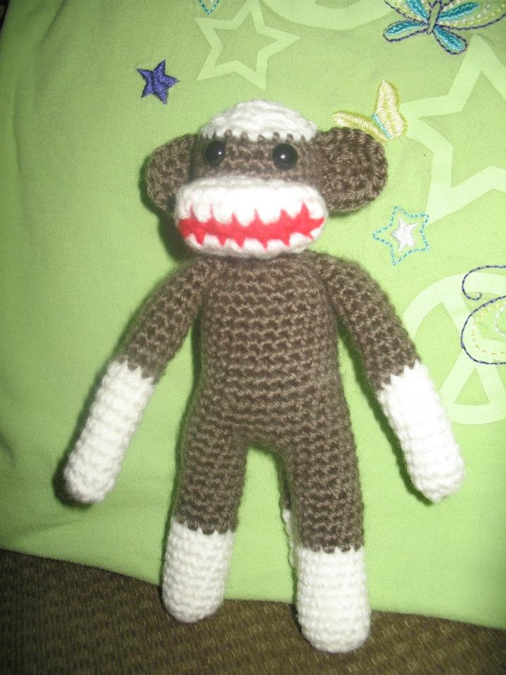 Free Crochet Pattern Sock Monkey Slippers : Sock Monkey ? Free Crochet Pattern ? Sew, sew cute ...