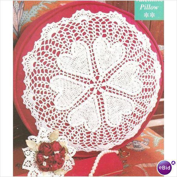 Crochet Patterns Nz : Crochet Pillow Pattern Valentine Pillow on eBid New Zealand
