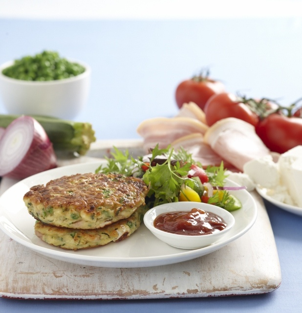 Zucchini Pea and Feta Fritters,... | Food | Pinterest
