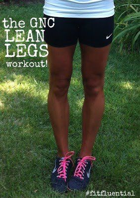 Lean_Legs_workout with GNC_fitfluential