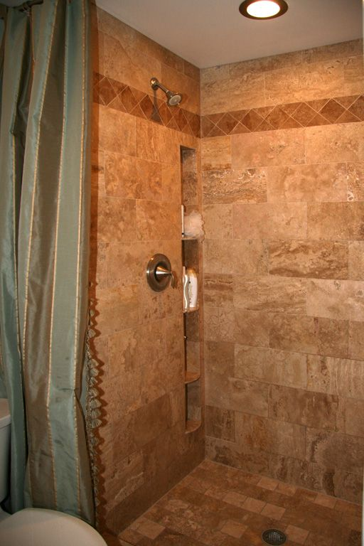 built in shower shelves my bathroom one day pinterest