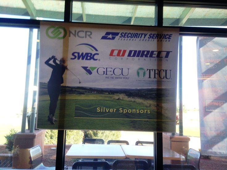 Tournament sponsor banner at Butterfield Trail Golf Club