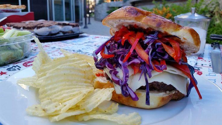 Red, White & Blue Burger | Main Dish | Pinterest