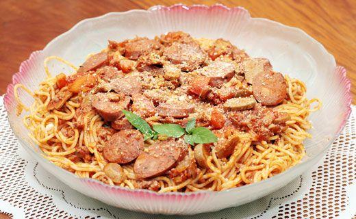 Spaghetti with Italian Sausage (use gluten free pasta)