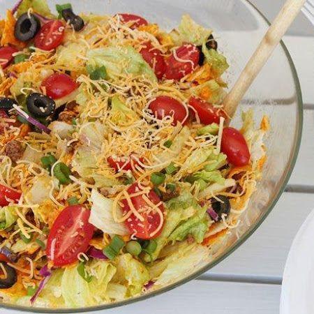 Crunchy Potluck Taco Salad recipe | Top & Popular Pinterest Recipes