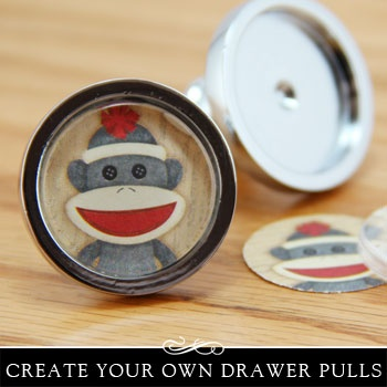 DIY Drawer Pulls are easy and inexpensive to make. Sold by Annie Howes www.anniehowes.com