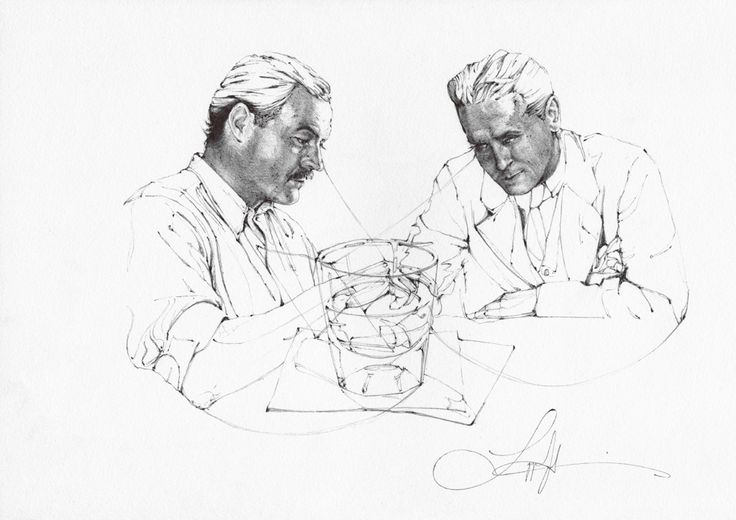 Hemingway versus Fitzgerald LANGLEY FOX ART