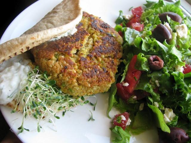 Greek-Style Quinoa Burgers Recipe — Dishmaps