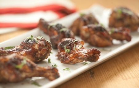 Five-Spice Cranberry Glazed Chicken Wings | Recipe
