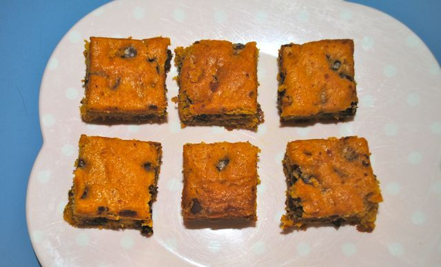 Pumpkin Chocolate Chip Squares This snack cake is moist and not overly ...