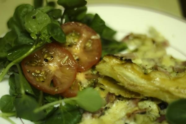Tomato Tart With Parmesan And Bacon Recipe — Dishmaps