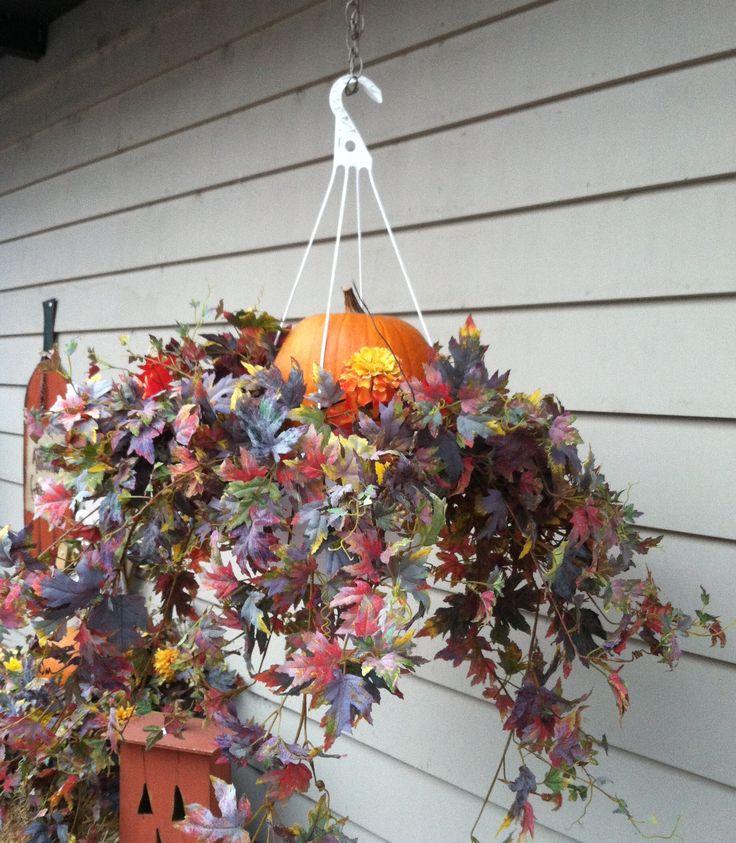 halloween hanging basket