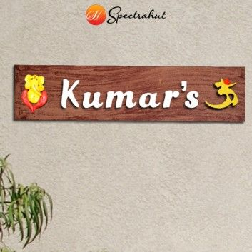 Pin by Spectrahut India on Custom Wooden Name Plates